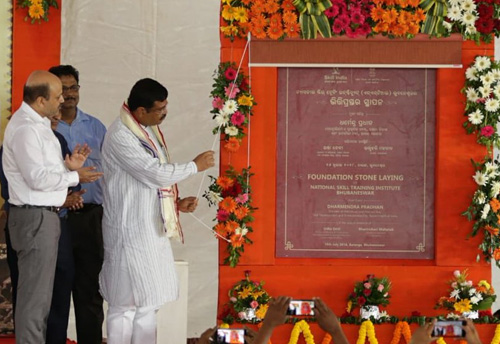 Foundation stone of India's first National Skill Training Institute laid in Odisha