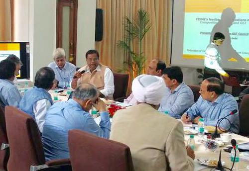 FISME President presents woes of the MSMEs to the Group of Ministers on GST
