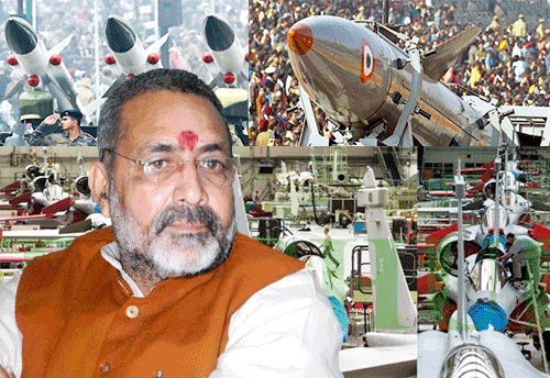 No specific scheme implemented by MoMSME to boost MSME sector's role in defence mfg: Giriraj Singh