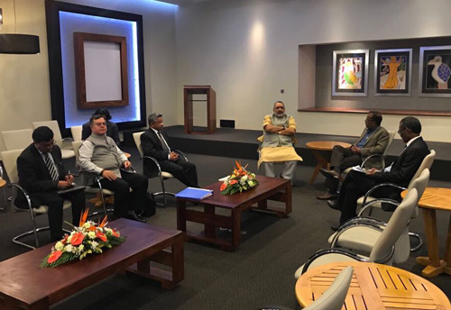 MSME Minister meets Mauritian Business Minister, cooperation in MSME sector on the agenda