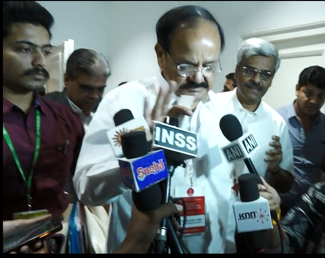 GST council has taken cognizance of the demand of MSMEs regarding the new tax policy: Venkaiah Naidu to KNN