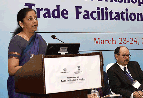 Market access is not facilitation but an issue; need for fair flow of services to promote intl trade: Sitharaman