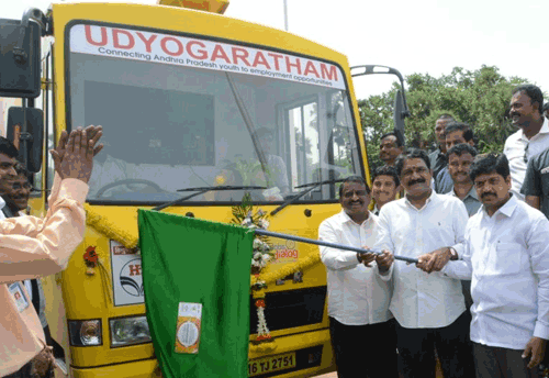 High-Tech Van launched in Vishakhapatnam to channelize employment for MSME Sector