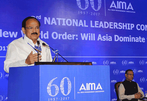 China chose low cost mfg and India chose to concentrate on Service Sector which made it top BPO destination: Naidu