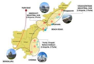 Exploring possibilities to extend ChennaiVishakhapatnam Industrial
