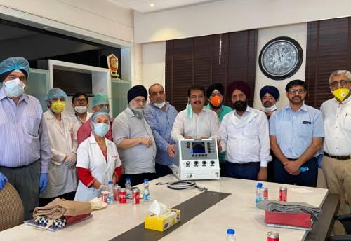 MSMEs donate ventilator to Ludhiana hospital