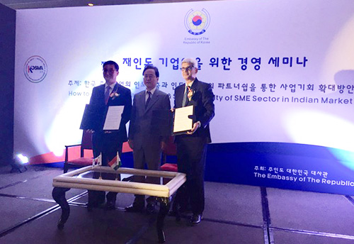 SME industry bodies of South Korea and India ink deal to foster Joint Ventures