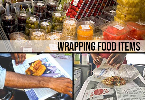 FBO's in Namakkal district in TN warned against wrapping food items in recycled plastics and newspapers