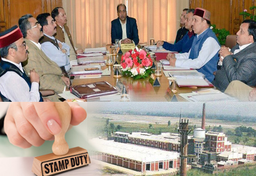 Industry department to refund 3% stamp duty charged from the industrialists: HP Cabinet