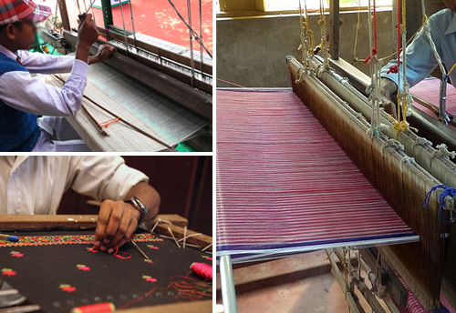 Handloom exporters from India on a visit to Cambodia to study production techniques of handicrafts