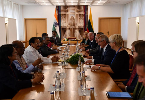 There is immense potential for growth in bilateral trade between India and Lithuania: Vice President