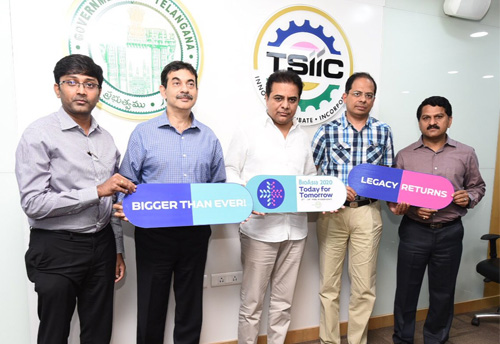 KTR unveils the logo, theme and website for BioAsia Summit-2020