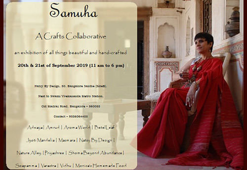 Natsy By Design, a woman led SME, to organize a crafts collaborative exhibition 'Samuha' in Bangalore on Sept 20-21