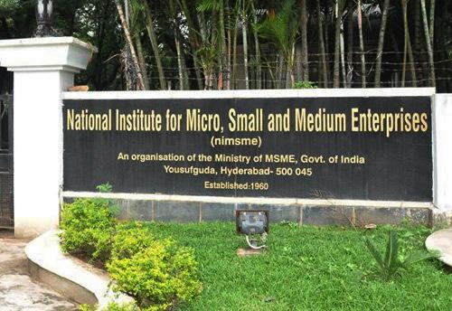Ni-msme organizing training program on promotion of viable micro enterprises for SHGs & micro enterprises
