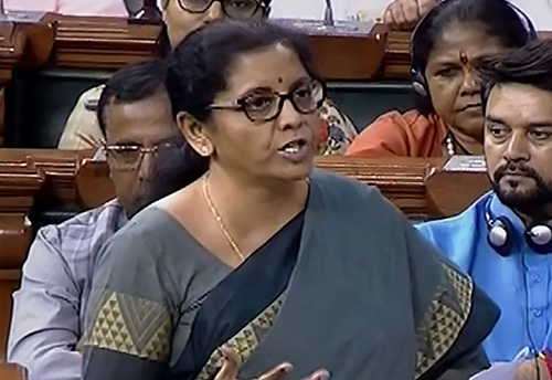 GST has five amendments that would make compliance easier for MSMEs, says Sitharaman as she moves Finance Bill in LS