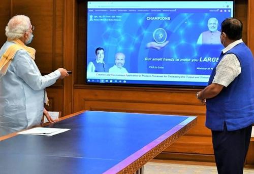 PM Modi launches Champions portal to help MSMEs