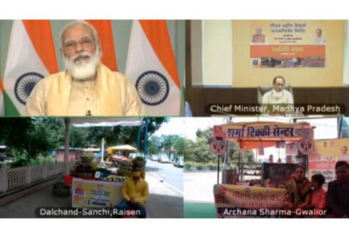 PM Narendra Modi holds 'SVANidhi Samvaad' with Madhya Pradesh street vendors