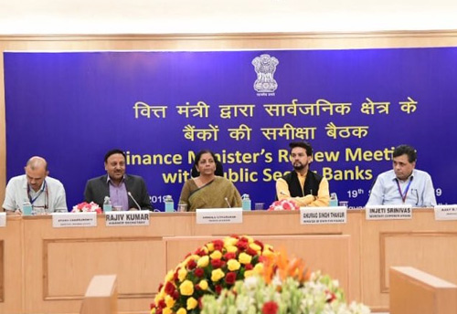 Fin Min reviews performance of banks with focus on supporting credit needs of various sectors including MSMEs