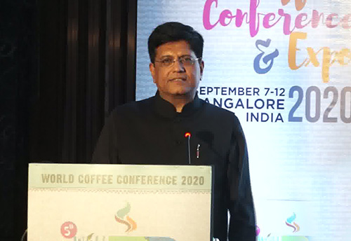 Make Indian coffee a brand recognized worldwide & formulate ways to make India a sustainable destination for coffee: Piyush Goyal