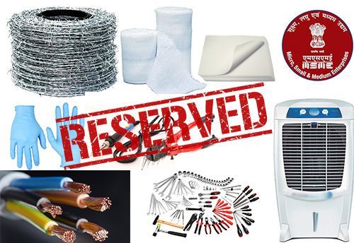 List of items reserved for purchase from MSEs to be revised; suggestions invited