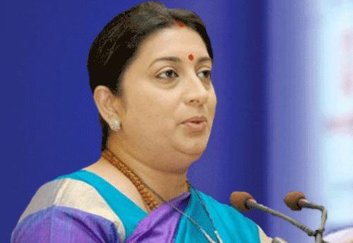 Meghalaya will be helped to develop its textile sector: Smriti Irani