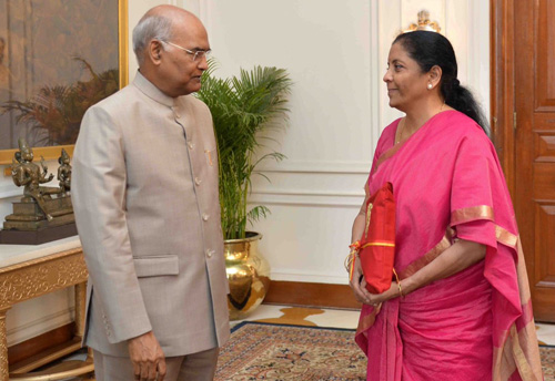 Budget 2019: Finance Minister to present her maiden budget today, handover the copy of budget to President as per tradition